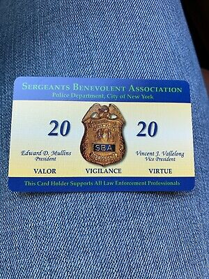 2020 Nypd Sba Pba  Card, Authentic   Fast Shipping!!! Not Cea Lba Dea