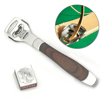 DIY Leathercraft Skiving Edge Skiver Cutter Thinning Stainless Steel Hand Tools