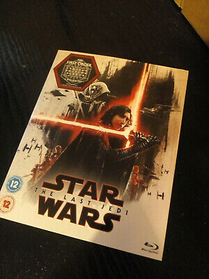 Star Wars :  THE LAST JEDI  (2 Disc Blu Ray With First Order Sleeve) New Sealed
