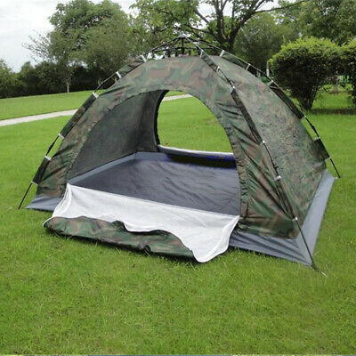 Outdoor Camping Waterproof 4 Season 3-4 Person Folding Tent Camouflage Hiking