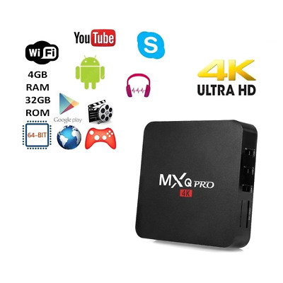 Tv Box Android 8.1 4K Full Hd 1080P Ram 2Gb 16Gb Smart Decoder Wifi Mxq Pro