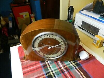 vintage Smith Sectric wooden cased mantle clock