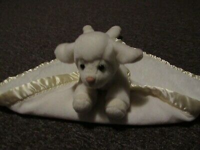 Lamb Security Blanket My Banky Cream  Aleigh Plush Satin Trim