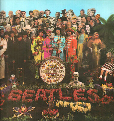 BEATLES Sgt Peppers Lonely Hearts Club Band LP VINYL 13 Track Mono Pressing Bl
