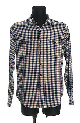 *** J.CREW *** Men's checked long sleeved Casual Shirt Size Large