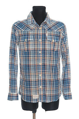 *** PEPE JEANS *** Men's checked long sleeved Casual Shirt Size Large * SLIM FIT