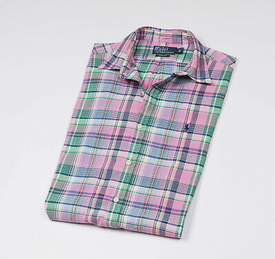 *** RALPH LAUREN *** Men's checked long sleeved Casual Shirt Slim Fit Size M