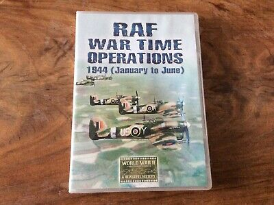 Raf War Time Operations 1944 (January To June 1944) Dvd/Raf In Ww2/New In Sealed