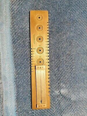 Echelle Montandon Brass Clock Watchmakers Mainspring Gauge / Tool. Ref FC