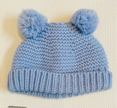 Joules Baby Boy Blue Bobble Hat 0-6 Months