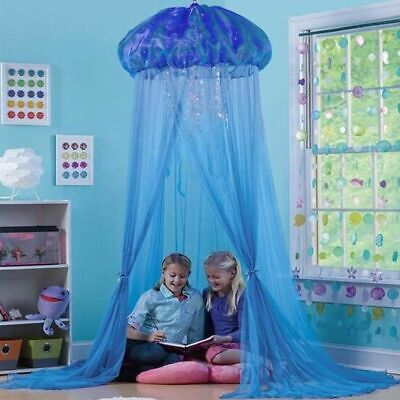 Kids Playing Tent Jellyfish Princess Bed Canopy Mosquito Netting Dome Decor