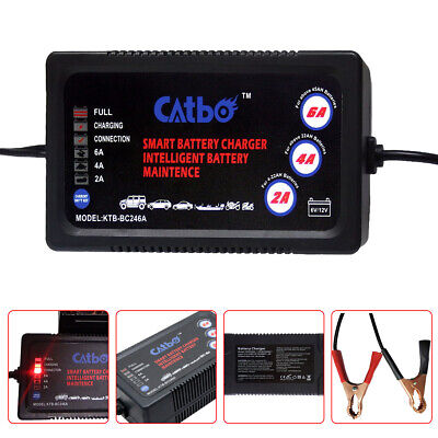 Car Battery Charger 6V/12V Smart Pulse Repair Portable Leisure Automobile 2/4/6A