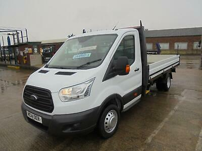2014 14 FORD TRANSIT 2.2 TDCI 350 LWB PICK UP TRUCK 14ft ALLOY DROPSIDE BODY