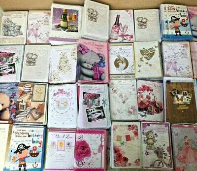 Wholesale Job Lot Assorted Greeting Cards x100 Female/Male/Ages etc  Code 75 NEW