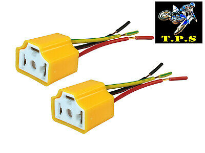 2X 2 Wire Pin H4 Car Truck Headlight Headlamp Ceramic Connection Plug Connector