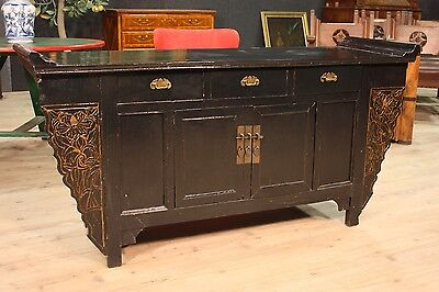 Cupboard Eastern Wooden Lacquered Furniture Dresser Drawers Panels Antique Style