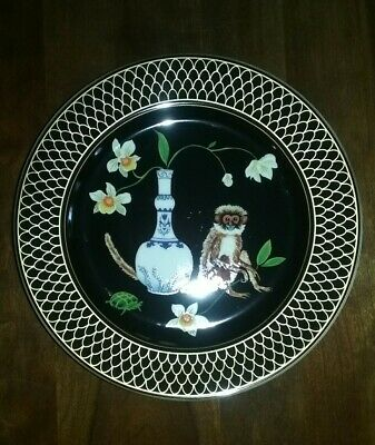 "LYNN CHASE -- Monkey Garden Pattern -- Salad Plate (9 1/4"") X 3 - Very Good!"