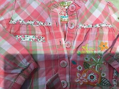 girls outfit embroidered NEXT shirt Sparkly shorts  by NUTMEG aged 2-3 years