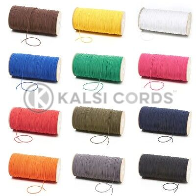 1.5mm THIN FINE ROUND ELASTIC STRETCH BUNGEE SHOCK CORD 12 COLOURS ANY LENGTHS