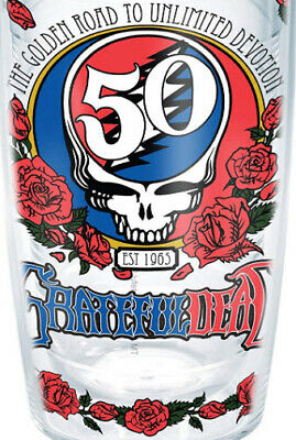 Limited Edition Rare Grateful Dead 16 Ounce Tervis Tumbler 50th Anniversary NEW