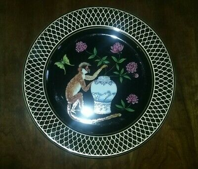"LYNN CHASE -- Monkey Garden Pattern -- Salad Plate (9"") X 3 - Very Good!"