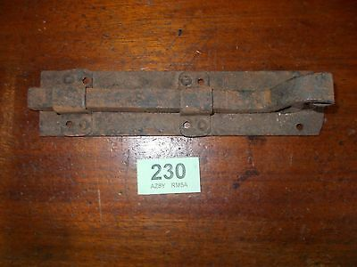 Reclaimed Victorian Hand Forged Wrought  Iron Door Bolt 230