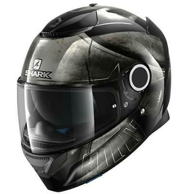 Shark Spartan Hoplite Motorcycle Full Face Helmet - Black / Silver