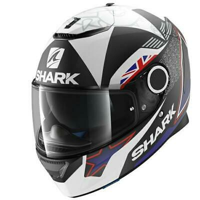 Shark Spartan Redding Motorcycle Full Face Helmet - White / Black / Red
