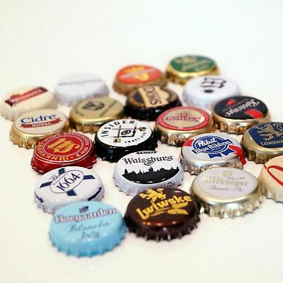 Lot of 20pcs MIXED BEER BOTTLE CAPS GREAT colors