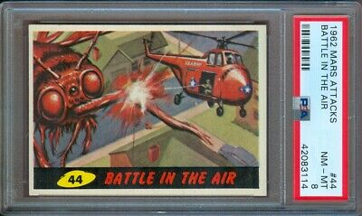 1962 Mars Attacks #44 Battle In The Air Psa 8