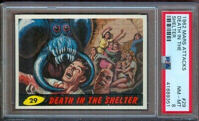 1962 Mars Attacks #29 Death In The Shelter Psa 8++ Sharp!