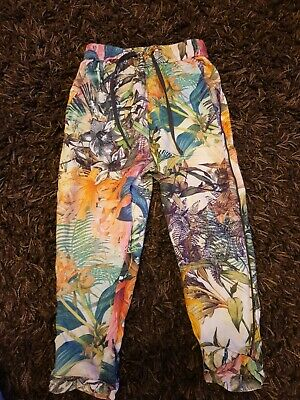 Next Girls Loose Trousers Size 4 Years