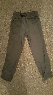 Boys Grey Cuffed Trousers Size 6 - 7 Years By Pep & Co