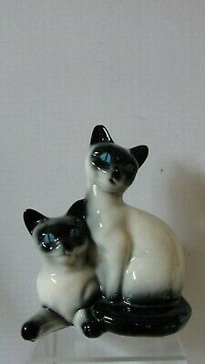 Unmarked Vintage Siameese Cat Planter