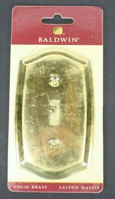 Baldwin Light Switch Plate Solid Brass Colonial Design Single Switch 4756-030-CD