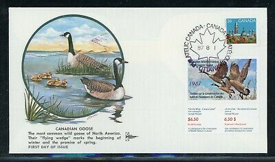 CANADA Wildlife Conservation Duck FDC: UNITRADE #FWH3 1987 $6.50 Gill Craft $$$