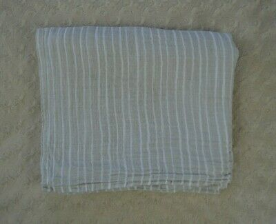 Aden + Anais Gray White Stripes Baby Blanket Muslin Cotton Swaddle