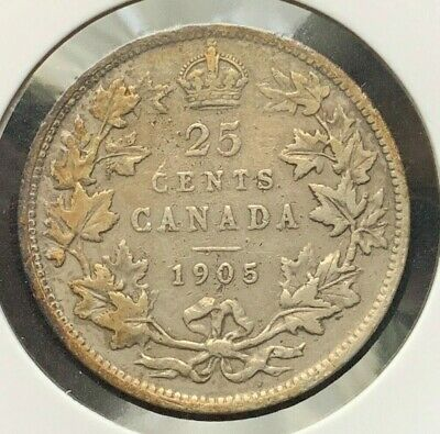 1905 Canadian 25 Cent Coin (C#3018)