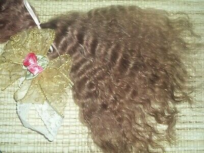 REBORN~1/3oz***LITE BROWN*** SUPER CURLY~YEARLING~MOHAIR~