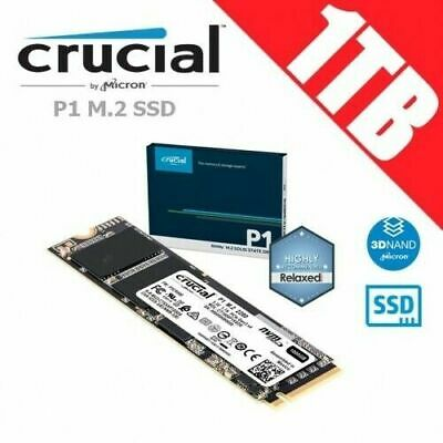 Crucial P1 1TB 3D NAND NVMe PCIe M.2 SSD Memory Solid State Drive PC Gamer Fast