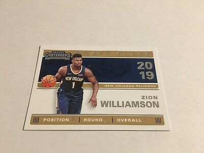 Free Ship PWE! 🔥2019-20 Panini Contenders Zion Williamson Rookie Draft Class