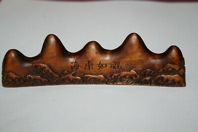 Repose support pinceaux chinois Qianlong, kangxi, Qin ?calligraphie brush stand