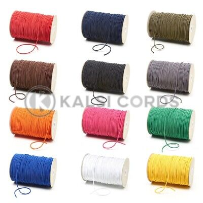2mm THIN FINE ROUND ELASTIC STRETCH BUNGEE SHOCK CORD 12 COLOURS ANY LENGTHS