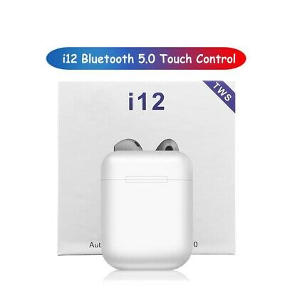 New Wireless Bluetooth Air-Pods 2020 I12 TWS Earphones Earbuds Touch Control 5.0