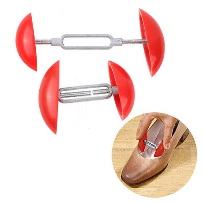 UK 1 Pair of Mini Adjustable Women Shoe Stretchers Shapers Width Extenders Red