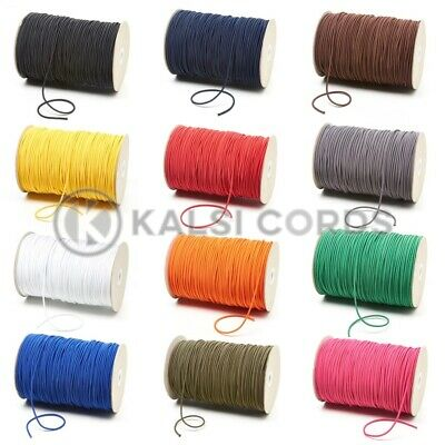 3mm THIN FINE ROUND ELASTIC STRETCH BUNGEE SHOCK CORD 12 COLOURS ANY LENGTHS