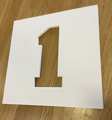 Number 1/ One Photo Iced White Mounts to Fit  IKEA Ribba Frame 23x23cm Pack of 5