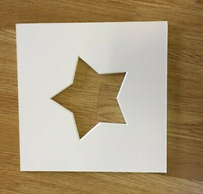 Star Shaped Photo Iced White Mounts to Fit  IKEA Ribba Frame 23x23cm Pack of 5