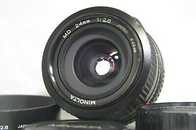 Minolta MD 24mm F/2.8 MF Wide Angle Prime Lens SN3106483 for SR Mount from Japan