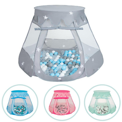 Selonis New Kids Pop Up Play Tent House with Plastic Balls Children Ball Pit